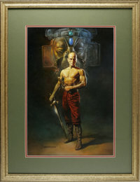 "Boris Vallejo - ""Swordsman"" Painting Original Art (1982). Fantasy art legend Boris Vallejo showcases a stalwar..."