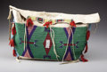 American Indian Art:Beadwork, A SIOUX BEADED HIDE TIPI BAG. . c. 1890. ...