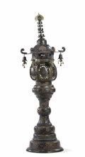 Asian:Japanese, A Japanese Cloisonné Garden Lantern. Unknown maker, Japanese. Late 19th century, Meiji Period,. Cloisonné enamel. Unmarked...