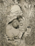 Illustration:Books, HARRISON CADY (American 1877 - 1970) . Buster Bear, circa1916 . Ink on board . 13-1/2 x 10-1/2in. . Signed lower left ...