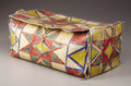 American Indian Art, A SIOUX PAINTED PARFLECHE BOX. c. 1880...
