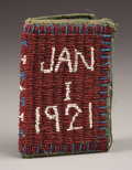 American Indian Art:Beadwork, A SIOUX BEADED BOOK . c. 1921...