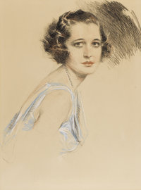 HOWARD CHANDLER CHRISTY (American 1873 - 1952) Marion Davies Pastel on paper 26 x 19.5in. Signed (in a very light