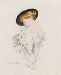 Illustration:Books, HOWARD CHANDLER CHRISTY (American 1873 - 1952) . Nancy Palmer asa Christy Girl, circa 1917 . Watercolor on board . 13 x...