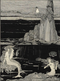 HARRY CLARKE (English 1891-1931) Untitled, circa 1920 Ink on paper 8 x 6in. Initialed upper right RThe Year's