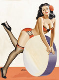 Illustration:Pin-Up, PETER DRIBEN (American 1903 - 1975)