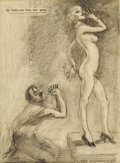 Illustration:Magazine, JAMES MONTGOMERY FLAGG (American 1877-1960) . The American Girland Why, circa 1942 . Charcoal on paper . 18-1/2 x 13-1/...
