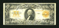 Large Size:Gold Certificates, Fr. 1187 $20 1922 Gold Certificate Fine++....