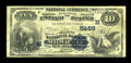 National Bank Notes:Wisconsin, Milwaukee, WI - $10 1882 Value Back Fr. 577 The Marine NB Ch. # (M)5458. ...
