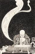 Illustration:Books, HENRY W. KEEN (English 20th Century) . The Seer . Ink onpaper . 10 x 6-1/2in. . Signed lower left . PROVENANCE: . Fro...