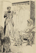 Paintings, ORSON BYRON LOWELL (American 1871 - 1956). Frocks II: Worst of the Lot, 1880 . Pen and ink. 23 x 15 1/2in.. Signed and d...