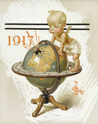 JOSEPH CHRISTIAN LEYENDECKER (American 1874-1951) Untitled, 1916 Oil on canvas 24 x 18-1/2in. Signed lower righ