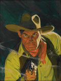 Paintings, TOM LOVELL (American 1901 - 1997) . Frontier of Missing Men, 1941 . Oil on canvas . 21 x 16in. . Signed lower left . S...