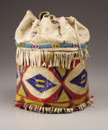 American Indian Art, A SIOUX PAINTED PARFLECHE CASE. c.1880. ... (Total: 1 Pieces)