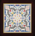 Illustration:Books, MAXFIELD PARRISH (American 1870 - 1966) . A Circus Bed Quilt. Goauche on board . 14-3/4 x 14-3/4in. . Unsigned . A full...(Total: 2 Items)