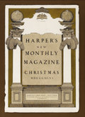 Illustration:Books, MAXFIELD PARRISH (American 1870 - 1966) . Harper's New MonthlyMagazine Christmas, 1896 . Mixed-media on board . 19-1/2 ...