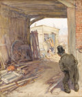 Illustration:Books, FRANK REYNOLDS (English 1876 - 1953) . The Old CuriosityShop, number 81, 1912 . Watercolor on paper . 12-1/2 x10-1/2in...