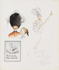 NORMAN ROCKWELL (American 1894-1978) Travel Sketch Mixed media on board 11-1/4 x 9-1/2in.  PROVENANCE: Gift from t