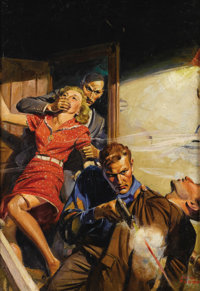 JOHN WALTER SCOTT (American 1907 - 1987) Untitled,1938 Oil on canvas 30 x 21in. Signed lower right Detective