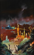 Illustration:Science Fiction, BORIS VALLEJO (American b.1941) . Alienscape, 1978 . Oil onboard . 26 x 16in. . Signed lower left...