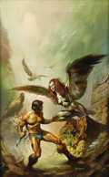 Illustration:Science Fiction, BORIS VALLEJO (American b.1941) . The Maker of theUniverses, 1977 . Oil on board . 27 x 17in. . Signed lowerright . ...