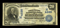 National Bank Notes:Wisconsin, Grand Rapids, WI - $20 1902 Plain Back Fr. 654 The Wood County NB Ch. # (M)4639. ...
