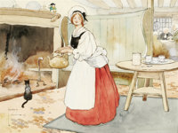LAWSON WOOD (English 1878 - 1957) Untitled, 1909 Watercolor on paper 10 x 13-1/4in. Signed and dated lower left  P