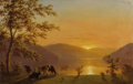 Fine Art - Painting, American:Antique  (Pre 1900), ARTHUR FITZWILLIAM TAIT (American 1819-1905). Cows inLandscape and Deer in Landscape (a pair). Each signed atlowe... (Total: 2 )