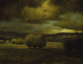 Paintings, GEORGE INNESS (American 1825 - 1894). Approaching Storm, circa 1868. Oil on canvas. 12-½ x 16in.. Signed and indistinctl...