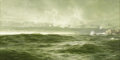 Fine Art - Painting, American:Antique  (Pre 1900), WILLIAM TROST RICHARDS (American 1833 - 1905). Rough Sea,1891. Oil on linen on panel. 20-1/4 x 40in.. Signed and dated ...