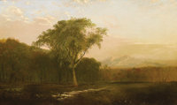 JOHN FREDERICK KENSETT (American 1816 - 1872) Scene near Greeley, Colorado, circa 1870-72 Oil on canvas 36 x 60in. &...