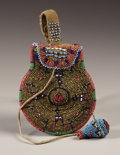 American Indian Art:Beadwork, A COMANCHE BEADED HIDE POUCH. . c. 1890. ...