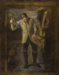 Paintings, THOMAS EAKINS (American 1844 - 1916). Study for the 1908 version of William Rush Carving his Allegorical Figure of the Sch...