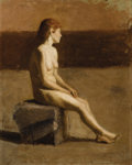 Fine Art - Painting, American:Antique  (Pre 1900), THOMAS EAKINS (American 1844 - 1916). Nude Study (depictingEakins's future wife Susan Macdowell), circa 1880-83. Oil on...