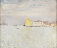 EMIL CARLSEN (American 1853 - 1932) Venice Canvas mounted on board 20 x 25in. Signed lower right  PROVENANCE: Vin