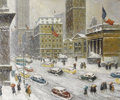 Fine Art - Painting, American:Contemporary   (1950 to present)  , GUY WIGGINS (American 1883 - 1962). New York Public Library. Oil on canvas. 25 x 30in.. PROVENANCE:. Private Collectio...