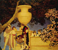 Fine Art - Painting, American:Modern  (1900 1949)  , MAXFIELD PARRISH (American 1870 - 1966). The Gertrude VanderbiltWhitney Murals, four murals offered in two lots,. Eas...(Total: 2 )