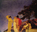 Fine Art - Painting, American:Modern  (1900 1949)  , MAXFIELD PARRISH (American 1870 - 1966). The Gertrude VanderbiltWhitney Murals, a pair, 1912-1916. South Wall Recepti...(Total: 2 )