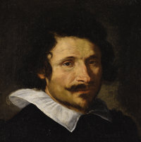 GIAN LORENZO BERNINI (Italian 1598 - 1680) Portrait of a Man, possibly Pietro da Cortona, circa 1625 - 30 Oil on canva...