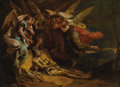 Old Master:Italian, GIOVANNI BATTISTA (GIAMBATTISTA) TIEPOLO (Italian 1696 - 1770).Death of Saint Jerome, circa 1732-35. Oil on canvas. 12-...