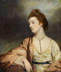 Paintings, SIR JOSHUA REYNOLDS, P.R.A. (English 1723 - 1792). Portrait of Caroline Cox (Lady Champneys), 1764. Oil on canvas. 29-3/...