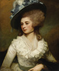 Old Master:British, GEORGE ROMNEY (British 1734 - 1802). Portrait of Lady CarolinePrice, 1774. Oil on canvas. 29-1/2 x 24-1/2in.. PROVENA...