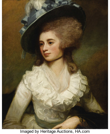 GEORGE ROMNEY (British 1734 - 1802)Portrait of Lady Caroline Price, 1774Oil on canvas29-1/2 x 24-1/2in.PROVENA...