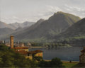 Paintings, HENRI ROLAND LANCELOT, MARQUIS DE TURPIN DE CRISSE (French 1754 - died circa 1800). Lago de Lugano. Oil on canvas. Signe...