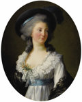 Paintings, ELISABETH LOUISE VIGÉE-LEBRUN (French 1755 - 1842). Portrait of Madame de Moreton, La Comtesse Moreton de Chabrillan. Si...