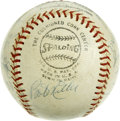 Autographs:Baseballs, 1972 San Diego Padres Team Signed Baseball. Fifteen members of the'72 San Diego Padres have checked in on the baseball we ...