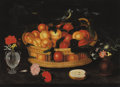 Paintings, FRANCESCO CODINO (also known as Franz Godin) (Italian, active circa 1615-1635). A pair of still lifes with flowers, birds,... (Total: 2 Items)