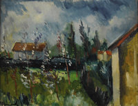 MAURICE DE VLAMINCK (French 1876 - 1958) Paysage de Printemps, circa 1914 19-1/2 x 25-1/2in. Signed lower left  PRO