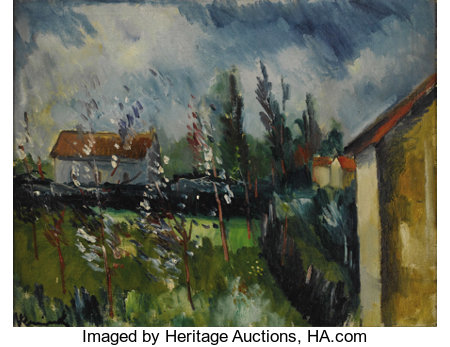 MAURICE DE VLAMINCK (French 1876 - 1958)Paysage de Printemps, circa 191419-1/2 x 25-1/2in.Signed lower leftPRO...