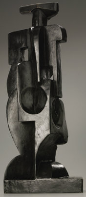 JUAN GRIS (Spanish 1887 - 1927) Harlequin, circa 1917 - 1918 Bronze, unique casting, 1/1 25 x 11 x 6in. Signed and n